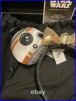 NWT Disney Star Wars Droid Her Universe Minnie Mouse Ears Ashley Eckstein