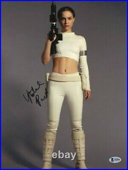 Natalie Portman Star Wars Padme Signed 11x14 Photo Autographed Beckett Bas Coa