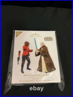 New! STAR WARS CELEBRATION VI 2012 Hallmark Keepsake Ornament Obi-Wan Ponda Baba