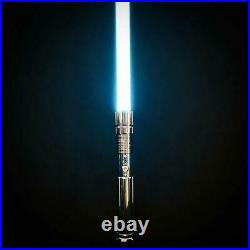 New Star Wars Lightsaber Rechargable Force Fx Heavy Dueling Metal Handle Blades