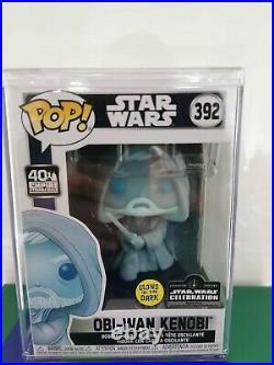 Obi-Wan Kenobi Funko #392 Star Wars Celebration Limited + Hard Protector