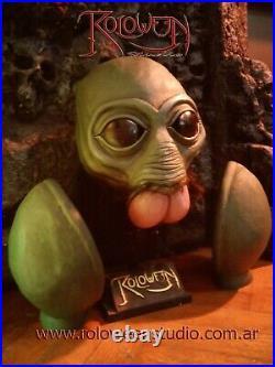 Ponda Baba Latex Mask Star Wars / Aqualish /sawkee Mask And Gloves