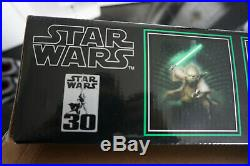 RARE 2007 Master Replicas Force FX Yoda Light saber collectable Wth original box