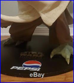RARE Star Wars LIFE SIZE Yoda Statue (Pepsi) Limited Edition Episode III