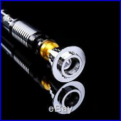 RGB Star Wars Luke Skywalker Lightsaber Hilt Silver Metal 10 Colors RGB Light