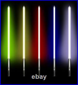 RGB Star Wars Luke Skywalker Lightsaber Silver Metal 11 Colors RGB Light Replic