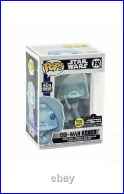 SHIPS FAST Funko Pop! Obi-Wan Kenobi #392 Star Wars Glow Vinyl Figure LE 3000