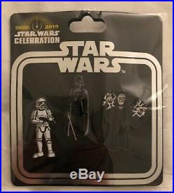 STAR WARS CELEBRATION 2019 CHICAGO PIN SETS 10 Blind Boxes Lanyard BB-8 Boba