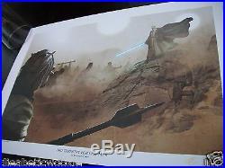 STAR WARS Celebration No Country for old Men Benjamin Carre Obi Wan Art Print