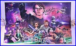 STAR WARS THE CLONE WARS Cast Signed Autographed 11x17 Poster/Print