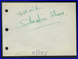Sebastian Shaw signed page JSA Authenticated Star Wars Anakin Skywalker umasked