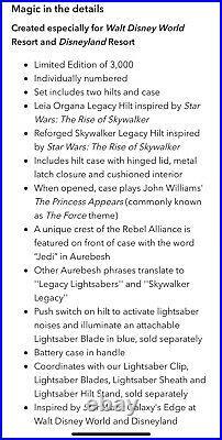 Skywalker Legacy Lightsaber Set Leia & Reforged Skywalker Hilt (IN HAND)