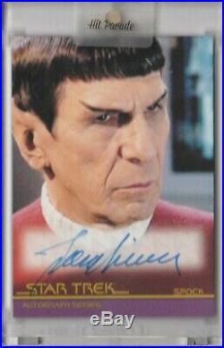 Star Trek Movies Heroes Villains Leonard Nimoy Autograph Auto #A126