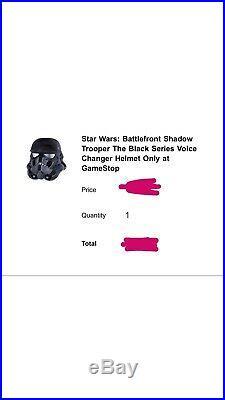Star Wars Battlefront Shadow Trooper Black Series Voice Changer Helmet Confirmed