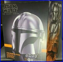 Star Wars Black Mandalorian Helmet Premium Electronic Prop Replica IN STOCK