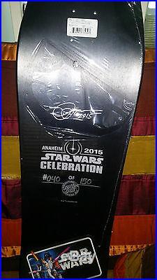 Star Wars Celebration 2015 Exclusive Santa Cruz Skateboards LE 150 SIGNED +BONUS
