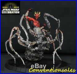 Star Wars Celebration 2019 Chicago Diamond Select Spider Darth Maul Statue