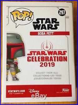 Star Wars Celebration 2019 Funko Pop Blue Chrome Boba Fett Limited Edition 2500