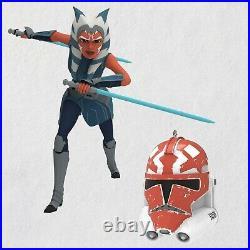 Star Wars Celebration 2020 Ahsoka Tano & 332nd Clone Helmet Ornaments exc