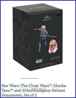 Star Wars Celebration 2020 Hallmark Exc Ahsoka Tano 332nd Clone Helmet 2-pack