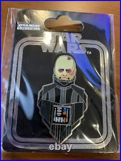 Star Wars Celebration 2020 Pin Helmetless Vader Variant