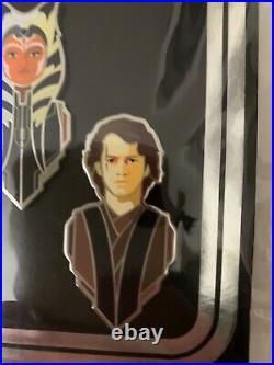 Star Wars Celebration 2020 Pin Set The Clone Wars Anakin Ahsoka Obi-Wan Kenobi