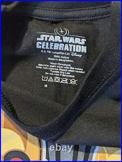 Star Wars Celebration 2020 Rise of Skywalker Pin T-Shirt Set Gold Eyes C3PO (M)