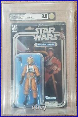 Star Wars Celebration 40th Luke Skywalker X-Wing Pilot 6 Black Series AFA 9.0