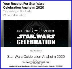 Star Wars Celebration Anaheim 2020 4 Day Adult Pass