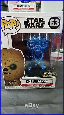 Star Wars Celebration Chicago 2019 Chrome Blue Pop Vinyl Complete Set