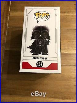 Star Wars Celebration Chicago 2019 EXCLUSIVE Funko Blue Chrome Darth Vader #157