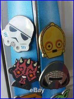 Star Wars Celebration Europe 2016 emoji metal pins x17 badges lightsaber ribbon