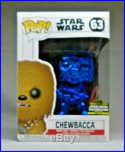 Star Wars Celebration Funko Pop! Set Of 6 Blue Chrome 2019 Chicago
