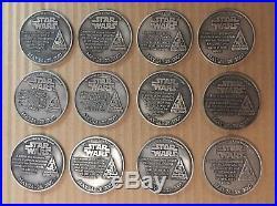 Star Wars Celebration IV Complete Collector Track Pewter Medallion Set Of 12