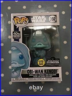 Star Wars Celebration Obi Wan Kenobi Glow In The Dark Funko Pop 1/3000