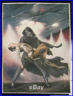 Star Wars Celebration Original Art Painting Kylo Ren Abduction Rey by Erik Maell