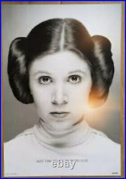 Star Wars Celebration Orlando Carrie Fisher Princess Leia Limited Poster Print