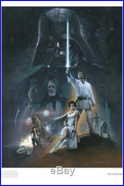 Star Wars Celebration The Hopeful Jerry Vanderstelt Poster Giclee CANVAS SIGNED