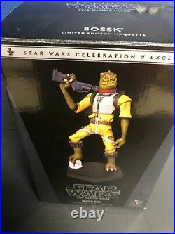 Star Wars Celebration V Exclusive Bossk Gentle Giant Maquette Clone Wars