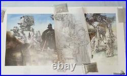 Star Wars Celebration V Hoth Snowtrooper AtAt art print and sketch Dave Dorman