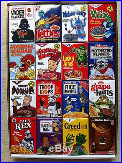 Star Wars Celebration V parody cereals Exclusive limited to 350 COMPLETE SET