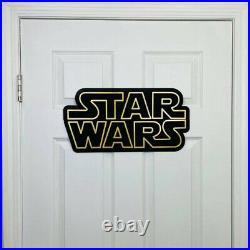 Star Wars Decoration Sign 40x20 Jedi Theme Room Decor Plaque Skywalker Yoda