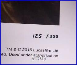 Star Wars Erik Maell Signed Padme Amidala Print Star Wars Celebration 2015