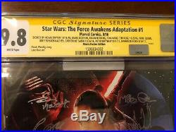 Star Wars Force Awakens 1 cgc cast signed x19 Hamill, Ford Rise of Skywalker