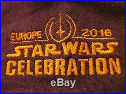 Star Wars IX Rogue One Solo Prop Crew XL Jacket + Celebration Movie Promo Shirt