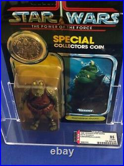 Star Wars Kenner 92 back AFA graded at 85 Gamorrean Guard Power of the Force