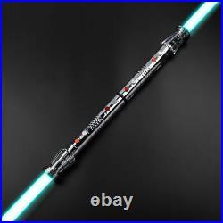 Star Wars Lightsaber Replica Force FX Darth Maul Dueling Sliver RGB+Sound New