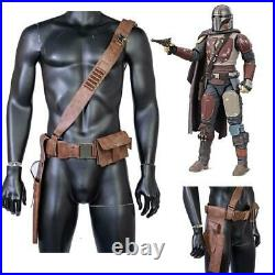 Star Wars Mandalorian Belt PU Leather Shoulder Strap Gun Holster Cosplay Costume