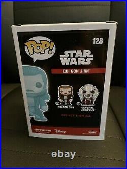 Star Wars Qui-Gon Jinn Holographic #128 Funko Pop Exclusive Celebration Sticker