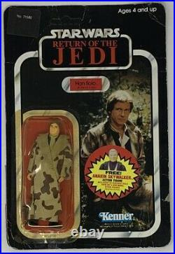 Star Wars ROTJ Han Solo Trench Coat 1983 action figure
